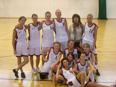 Reprezentacja szkoły w koszykówce dziewcząt
